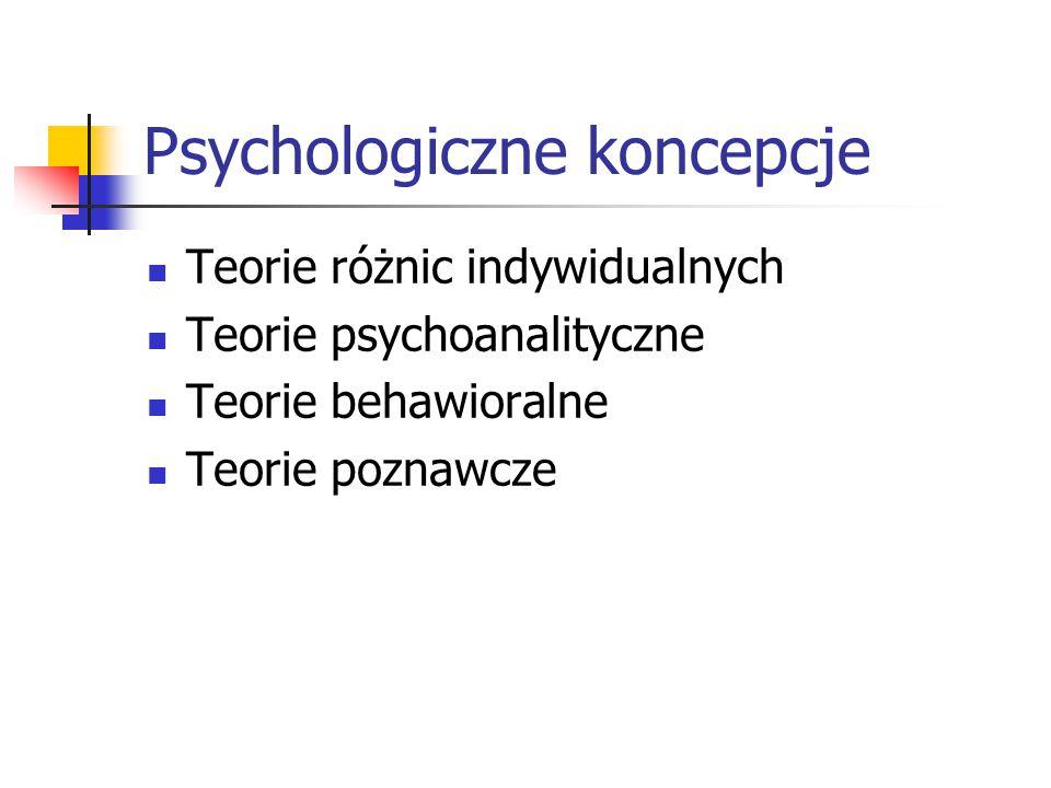 Psychologiczne koncepcje
