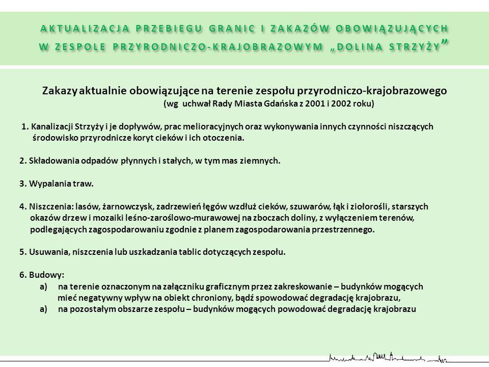 (wg uchwał Rady Miasta Gdańska z 2001 i 2002 roku)