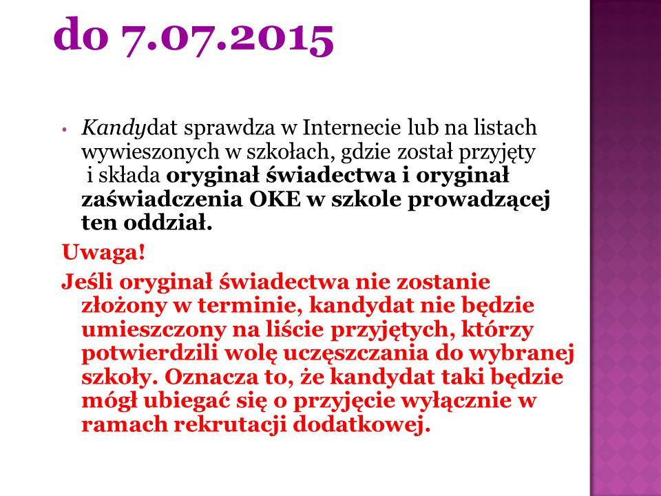 do 7.07.2015