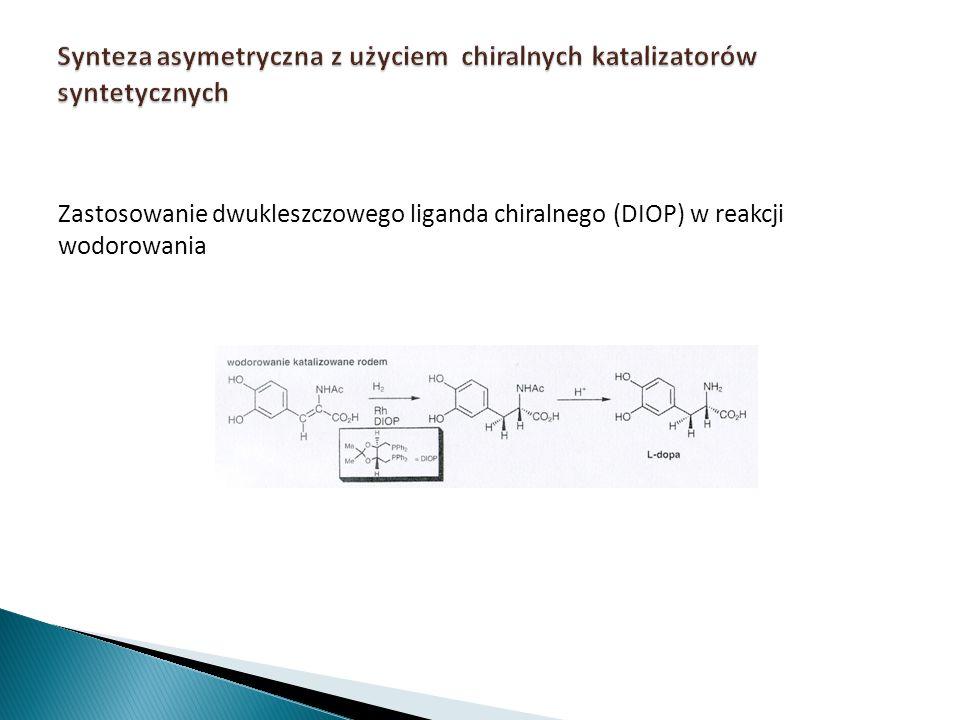 Synteza asymetryczna z użyciem chiralnych katalizatorów syntetycznych