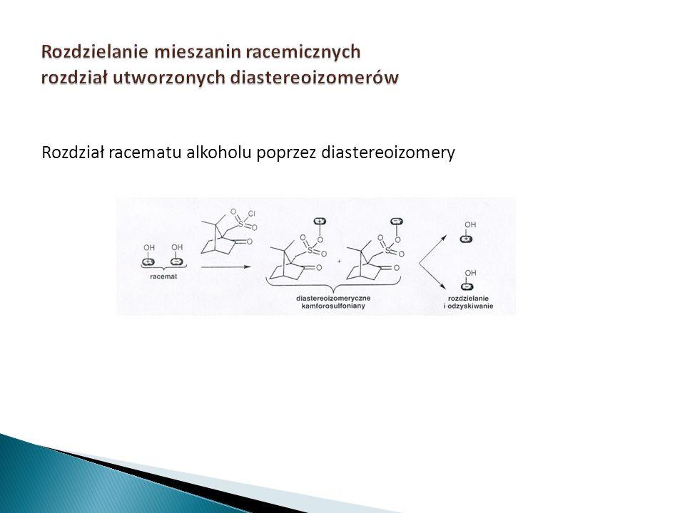 Rozdzielanie mieszanin racemicznych rozdział utworzonych diastereoizomerów