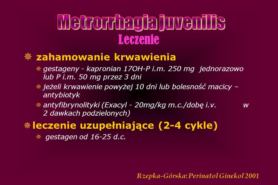 Metrorrhagia juvenilis