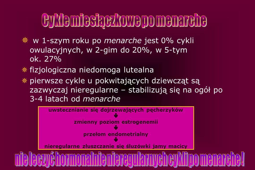 Cykle miesiączkowe po menarche