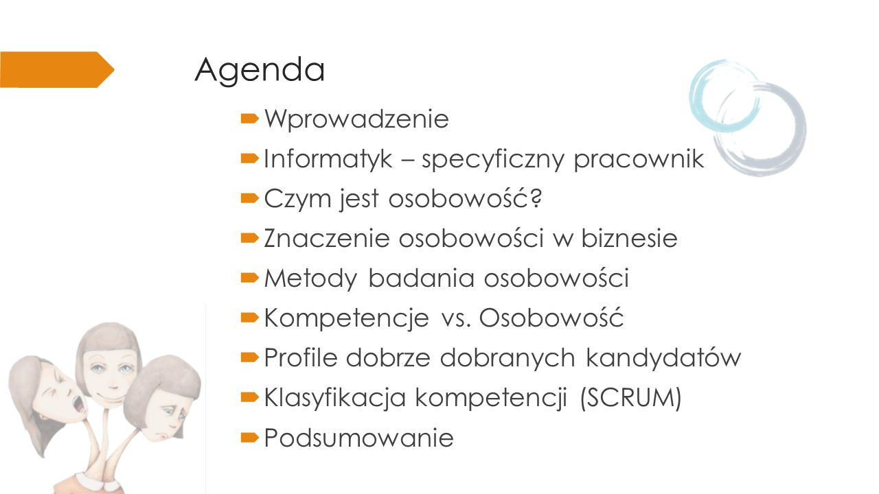 Agenda Wprowadzenie Informatyk – specyficzny pracownik