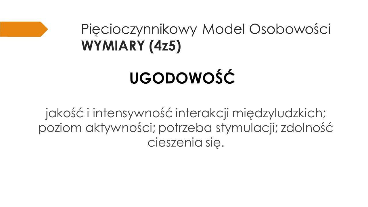 Pięcioczynnikowy Model Osobowości WYMIARY (4z5)