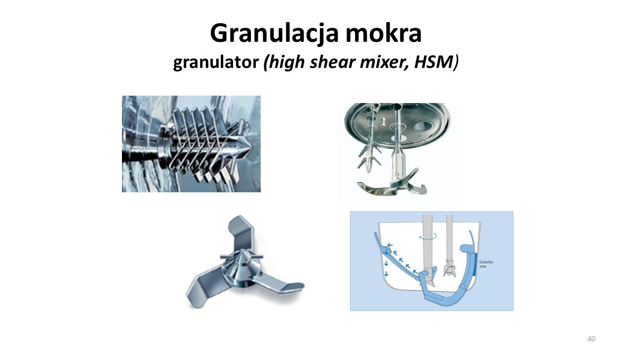 Granulacja mokra granulator (high shear mixer, HSM)