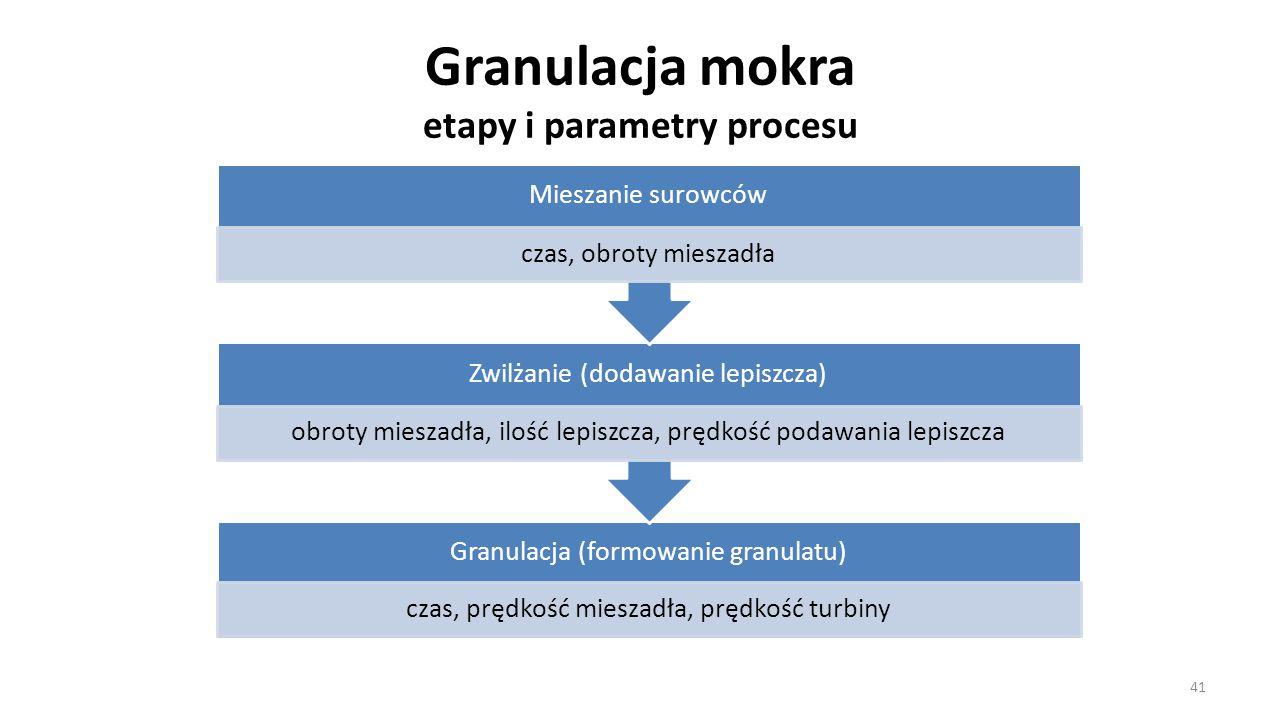 Granulacja mokra etapy i parametry procesu