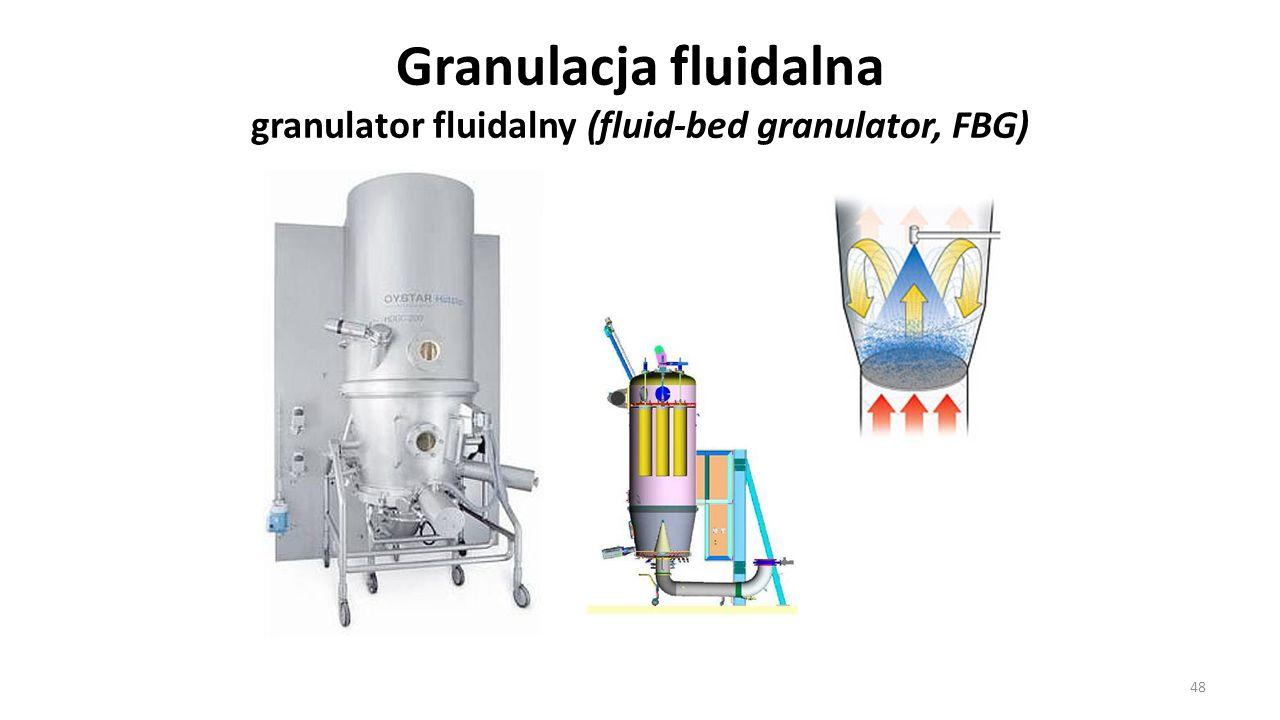 Granulacja fluidalna granulator fluidalny (fluid-bed granulator, FBG)