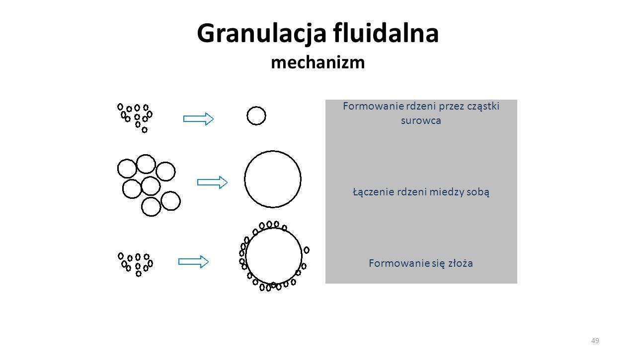 Granulacja fluidalna mechanizm