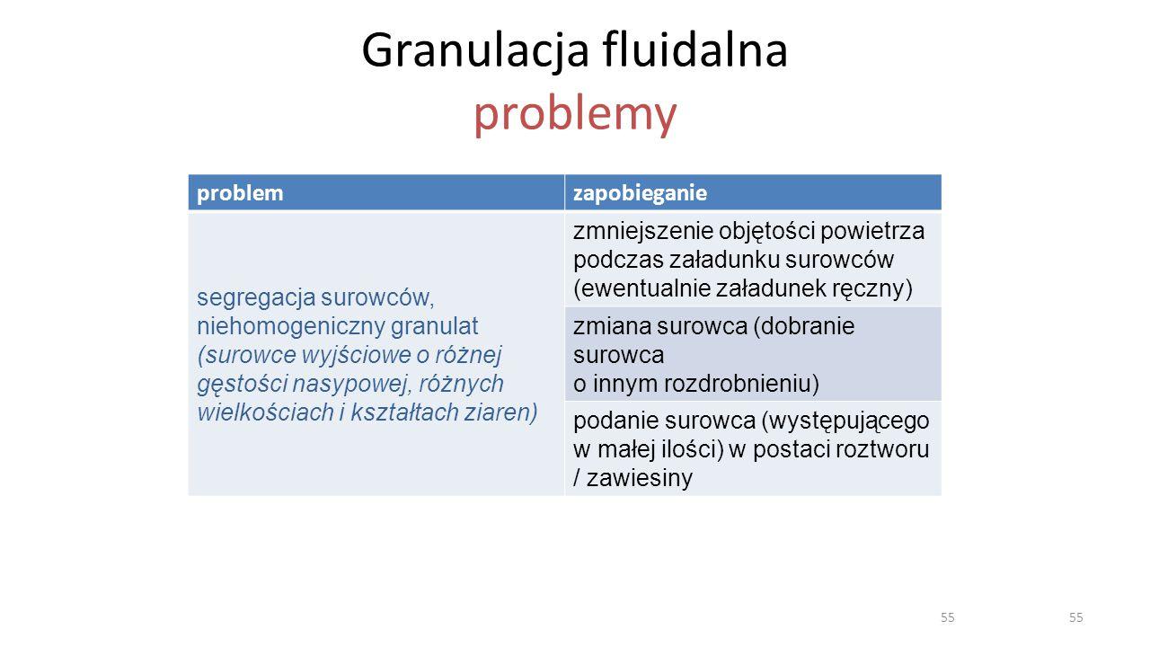 Granulacja fluidalna problemy