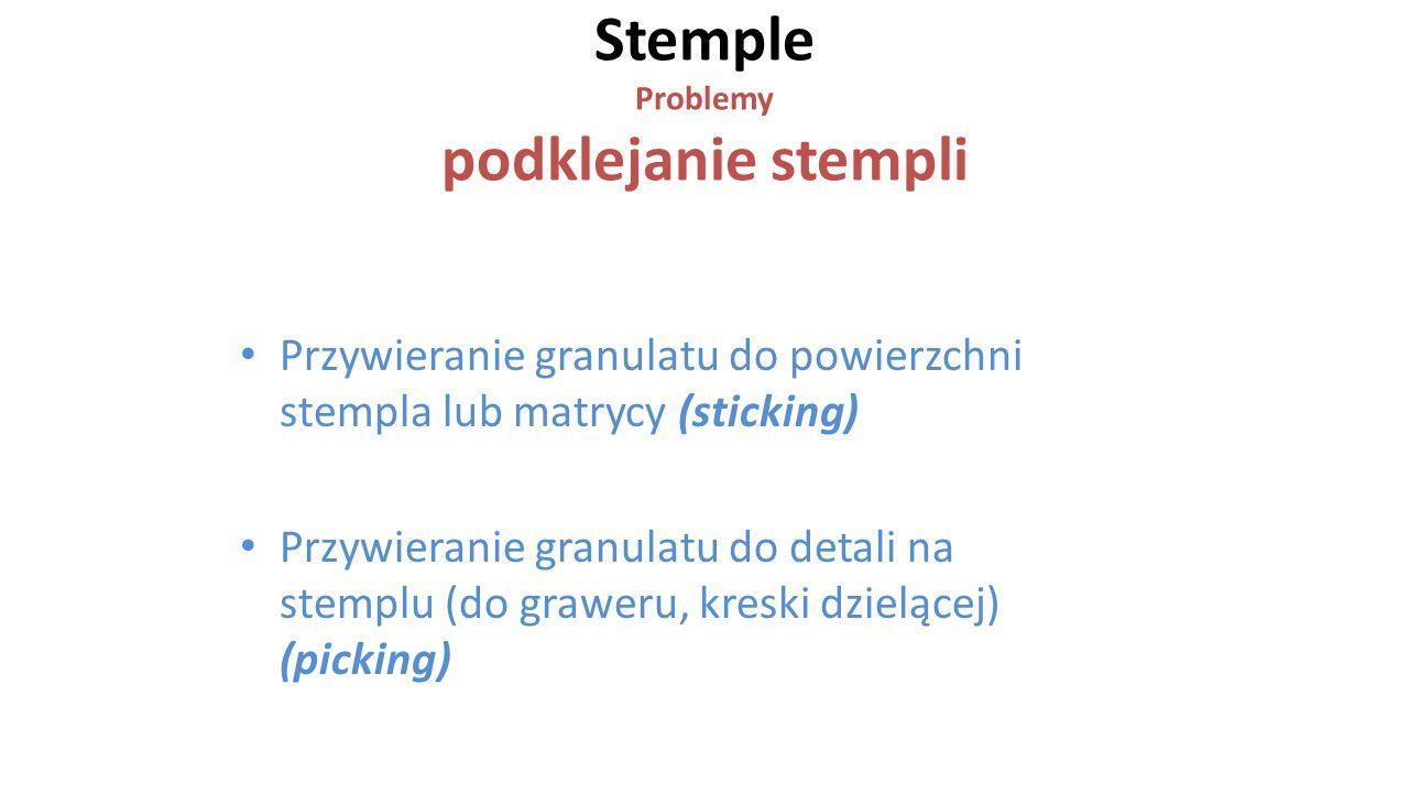Stemple Problemy podklejanie stempli