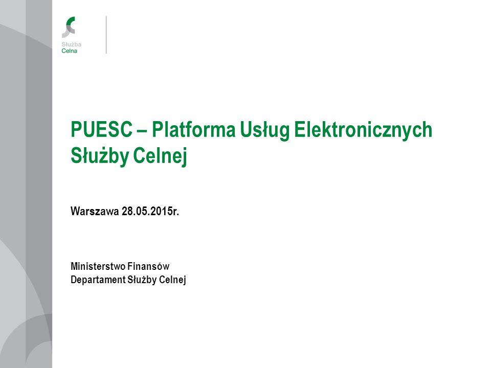 PUESC – Platforma Usług Elektronicznych Służby Celnej