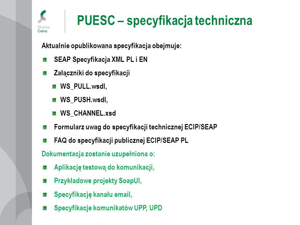 PUESC – specyfikacja techniczna