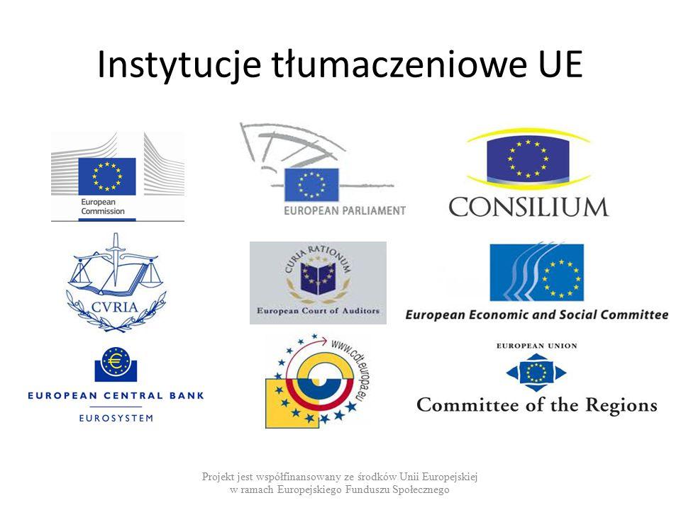Instytucje tłumaczeniowe UE