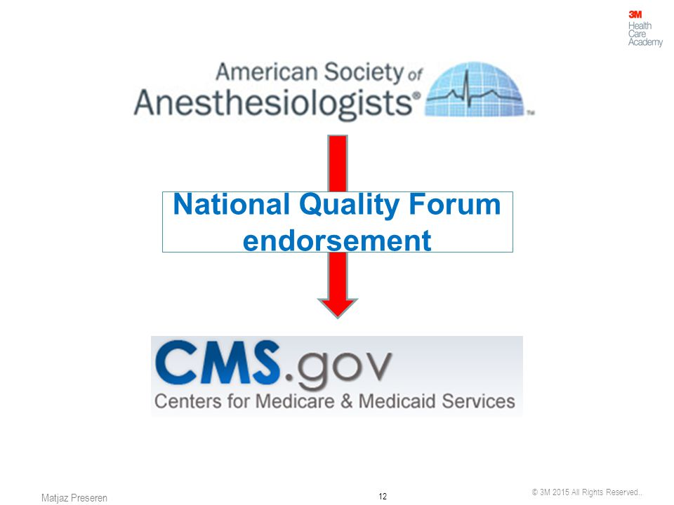 National Quality Forum endorsement