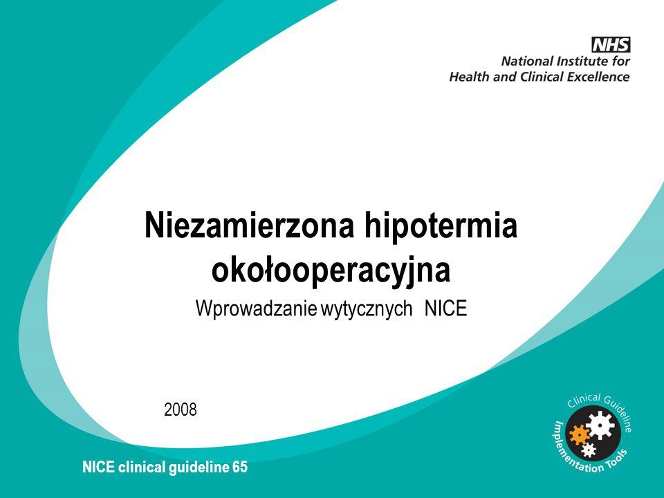 Niezamierzona hipotermia okołooperacyjna