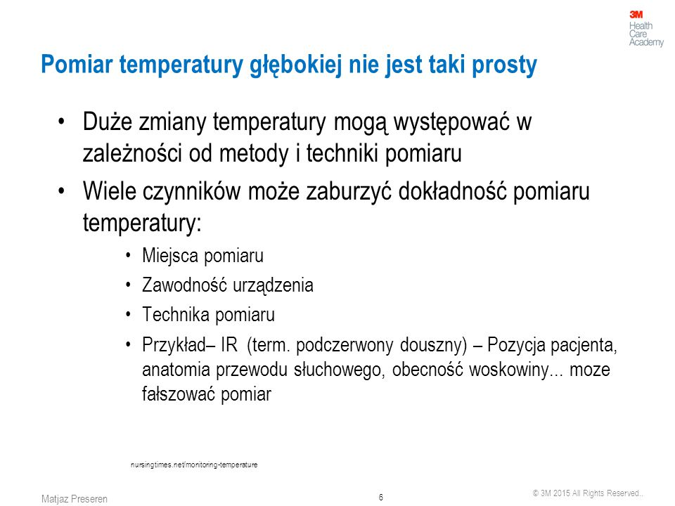 Pomiar temperatury głębokiej nie jest taki prosty