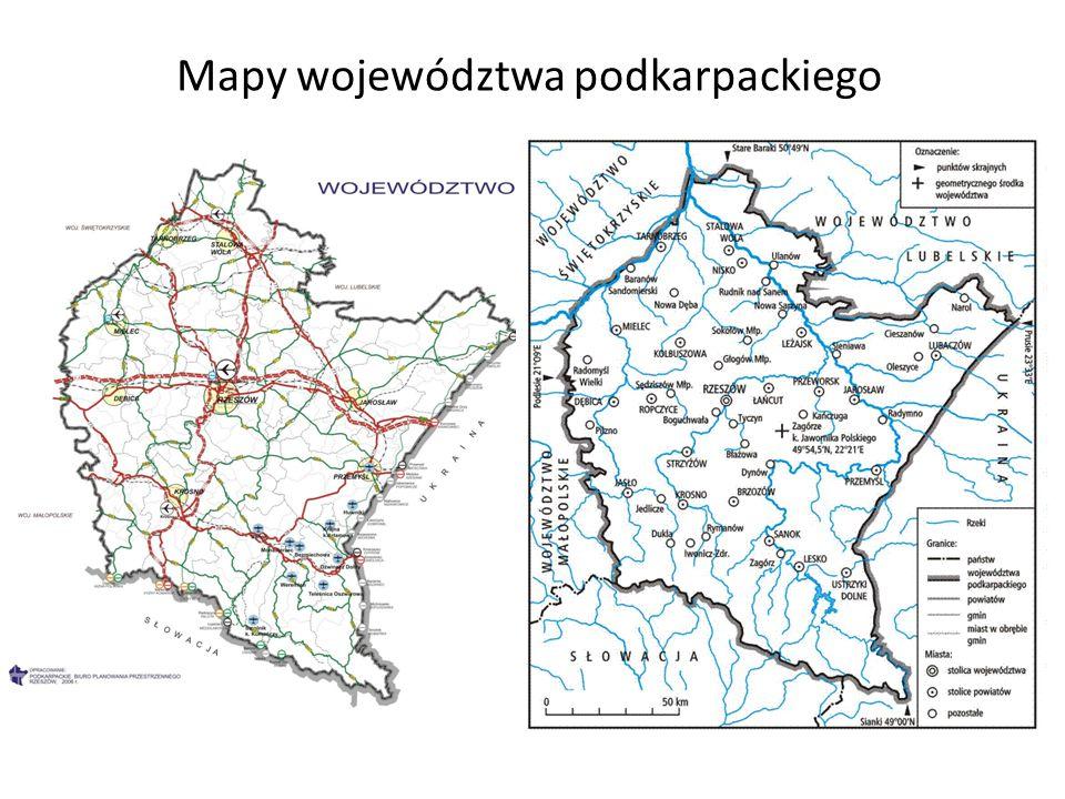 Mapy województwa podkarpackiego