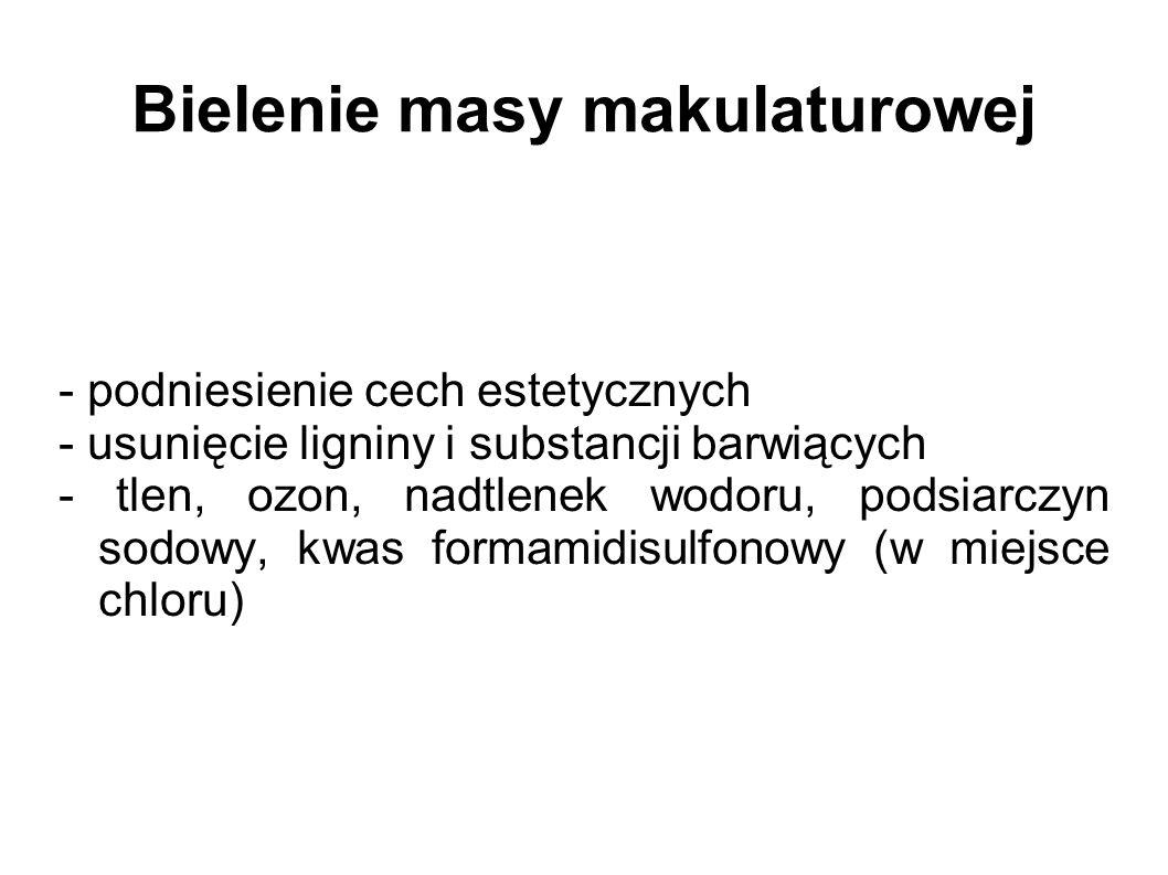 Bielenie masy makulaturowej