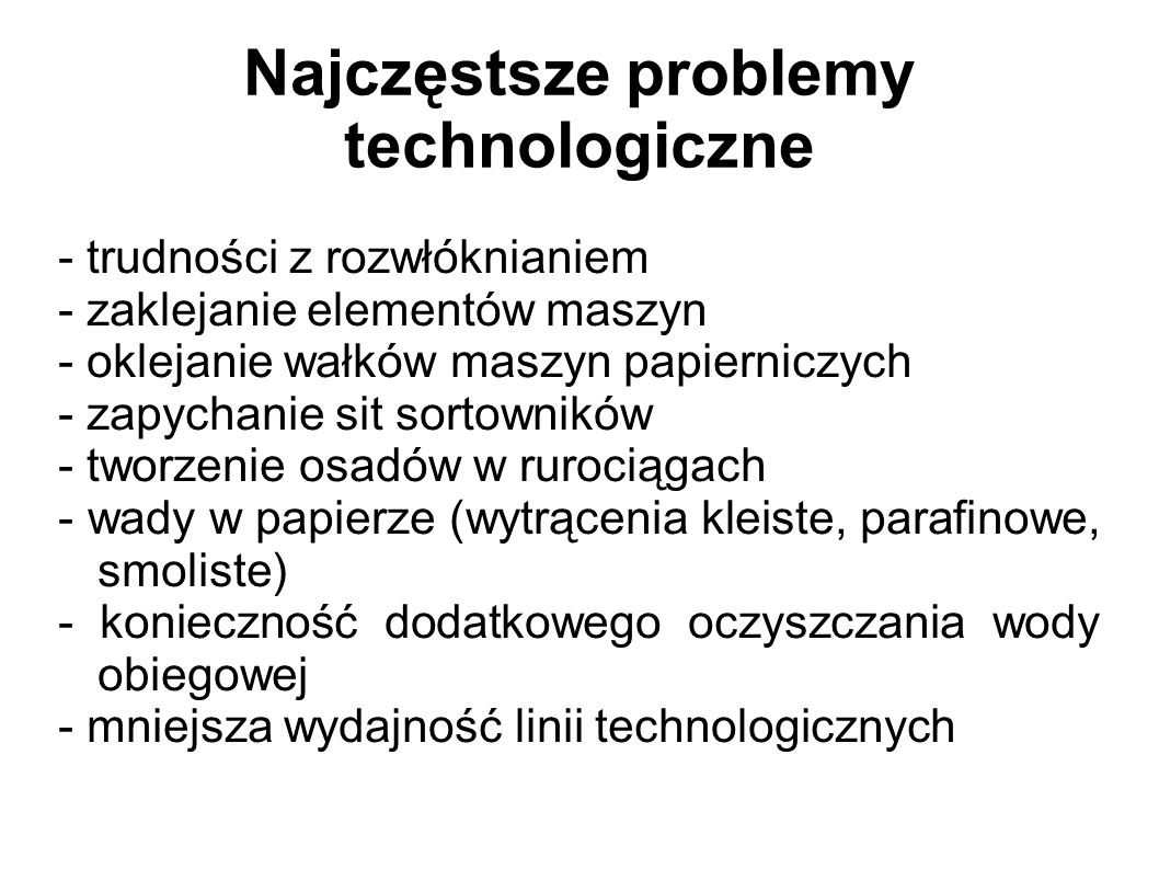 Najczęstsze problemy technologiczne