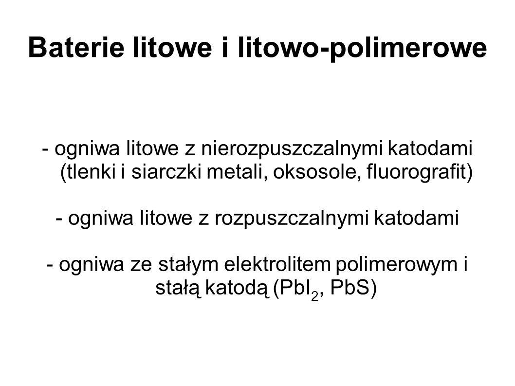 Baterie litowe i litowo-polimerowe