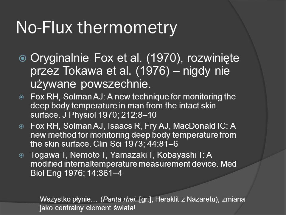 No-Flux thermometry Oryginalnie Fox et al. (1970), rozwinięte przez Tokawa et al. (1976) – nigdy nie używane powszechnie.