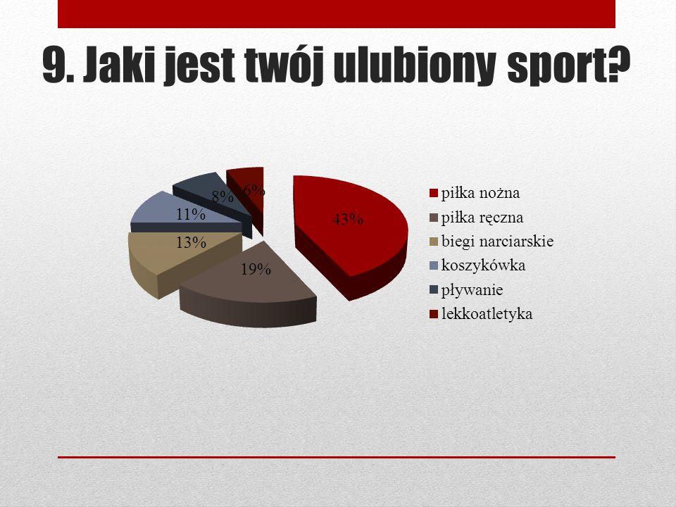 9. Jaki jest twój ulubiony sport