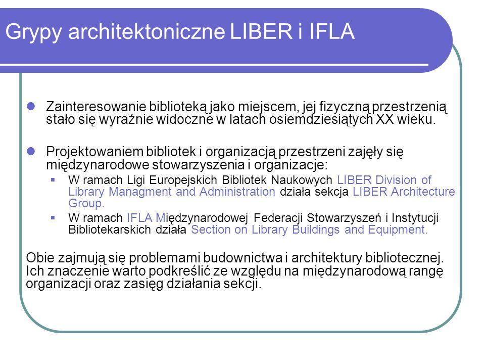 Grypy architektoniczne LIBER i IFLA