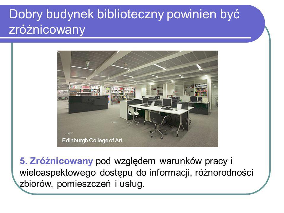 Dobry budynek biblioteczny powinien być zróżnicowany