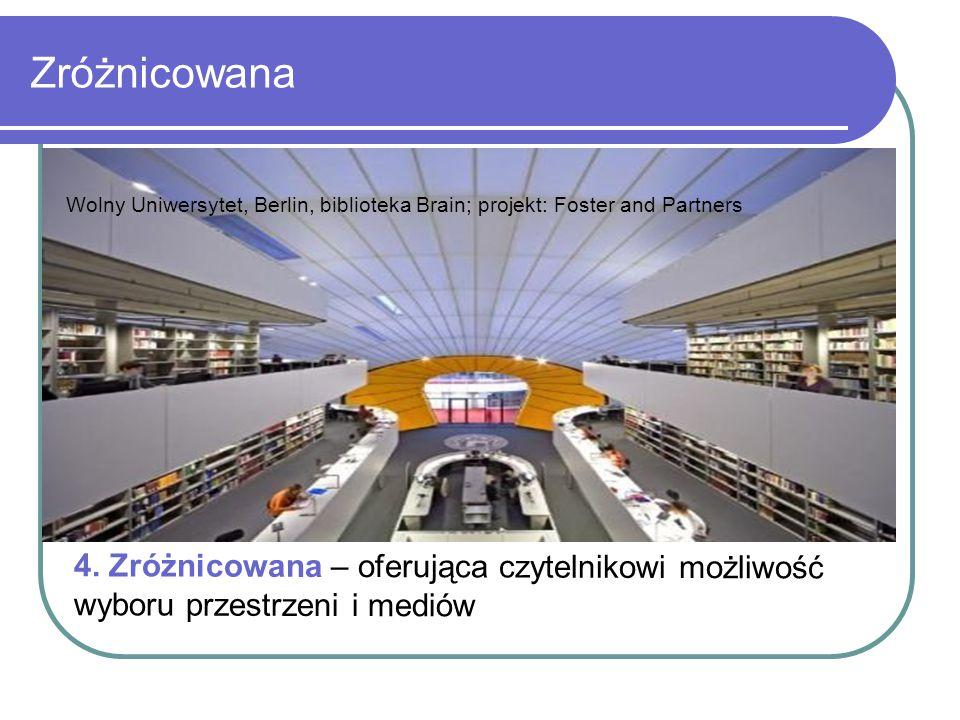 Zróżnicowana Wolny Uniwersytet, Berlin, biblioteka Brain; projekt: Foster and Partners.