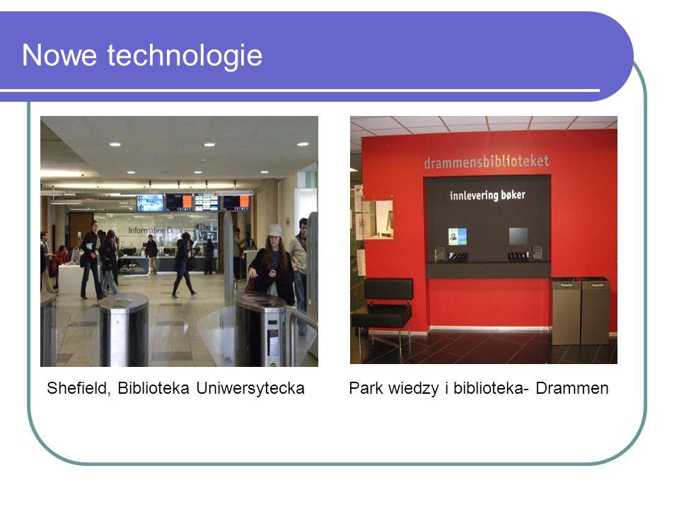 Nowe technologie Shefield, Biblioteka Uniwersytecka Park wiedzy i biblioteka- Drammen