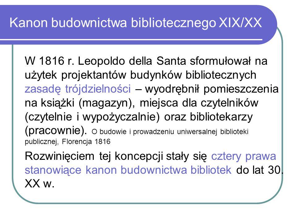 Kanon budownictwa bibliotecznego XIX/XX