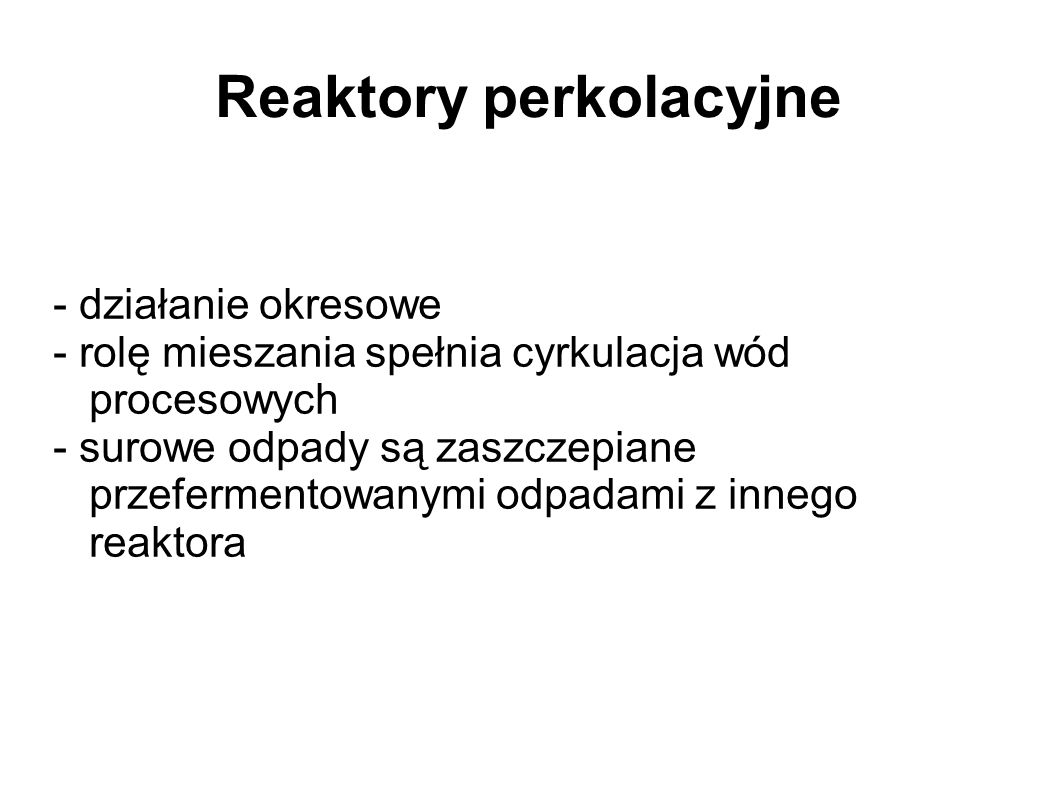 Reaktory perkolacyjne