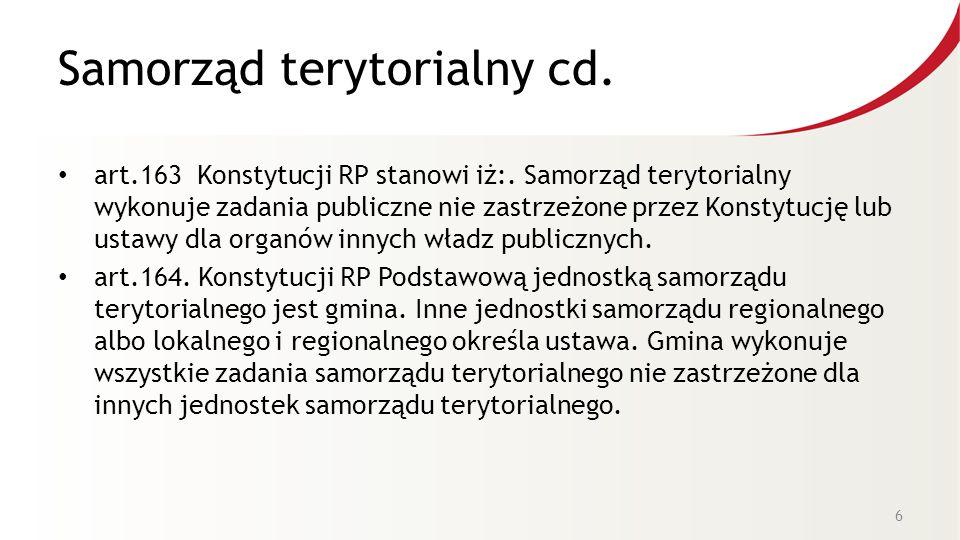 Samorząd terytorialny cd.