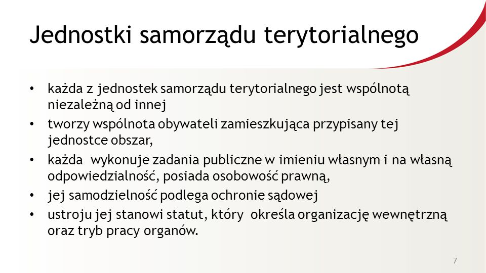 Jednostki samorządu terytorialnego