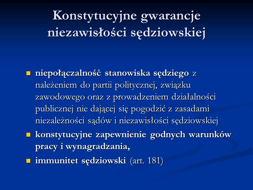 Konstytucyjne gwarancje niezawisłości sędziowskiej