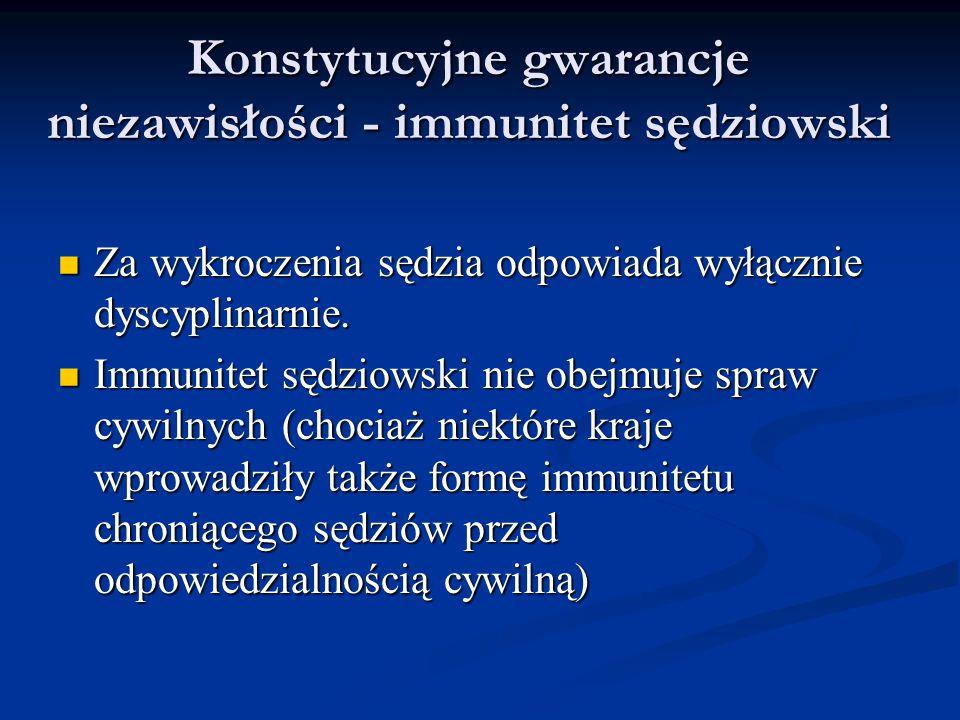 Konstytucyjne gwarancje niezawisłości - immunitet sędziowski