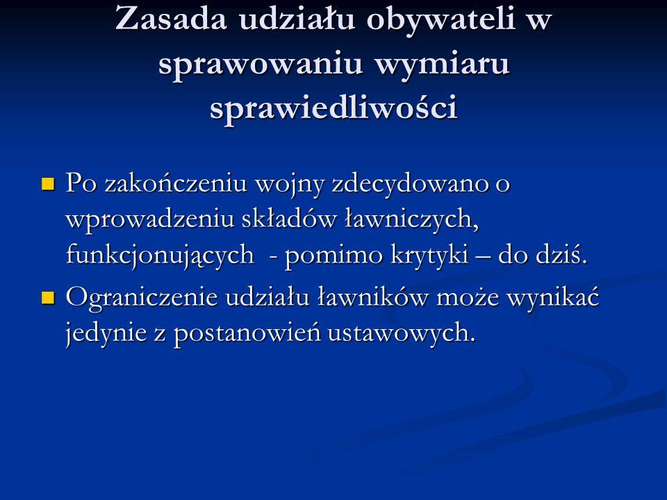 Zasada udziału obywateli w sprawowaniu wymiaru sprawiedliwości