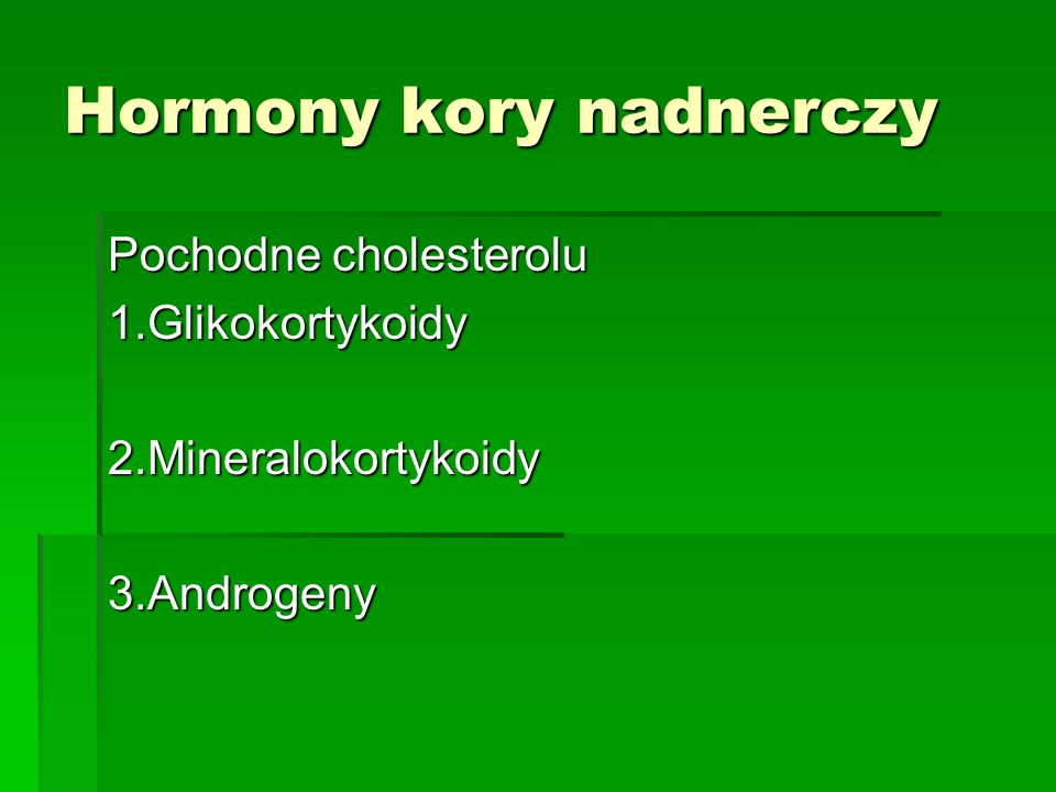 Hormony kory nadnerczy