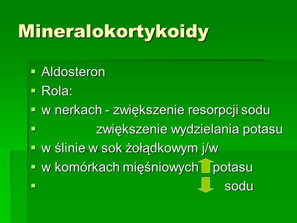 Mineralokortykoidy Aldosteron Rola:
