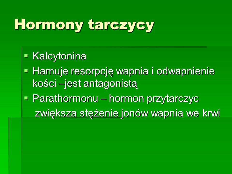 Hormony tarczycy Kalcytonina