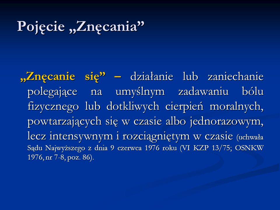 """Pojęcie """"Znęcania"""