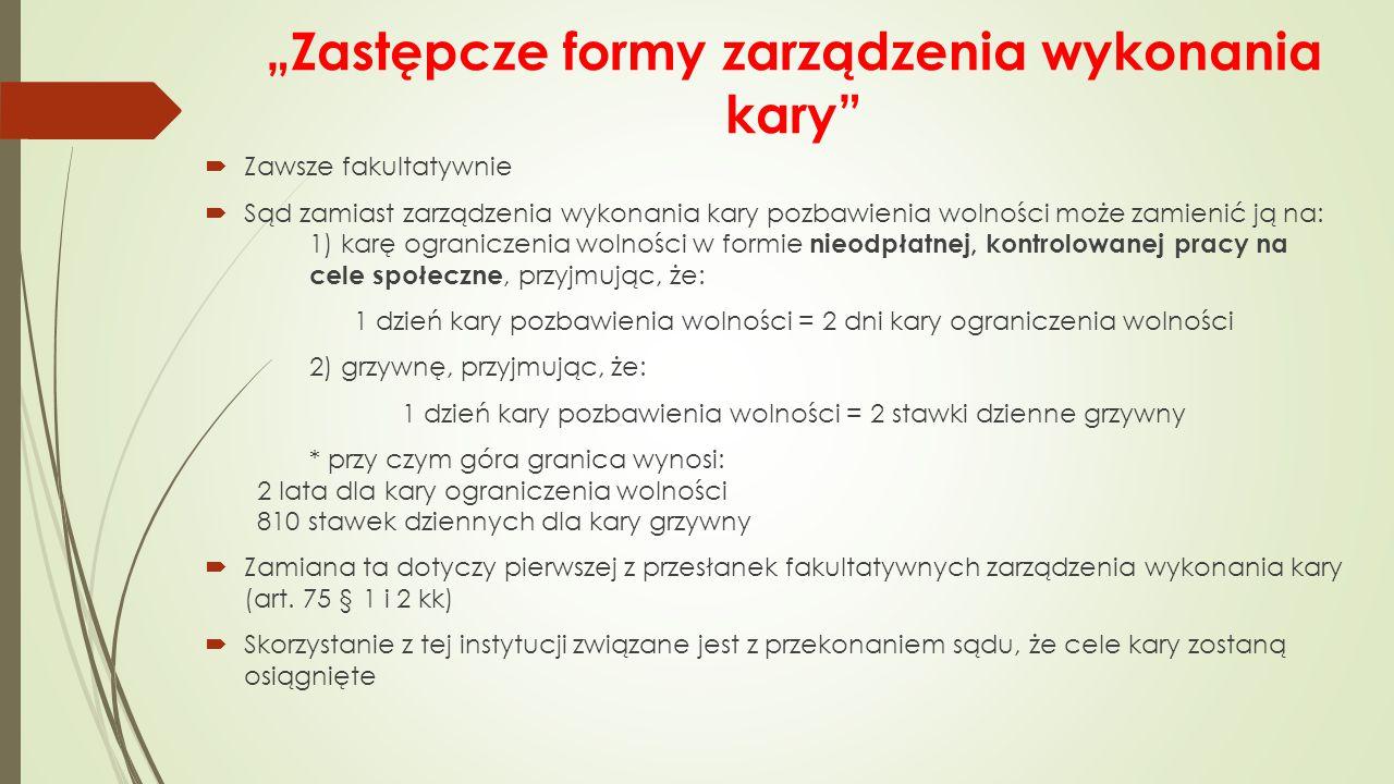 """""""Zastępcze formy zarządzenia wykonania kary"""