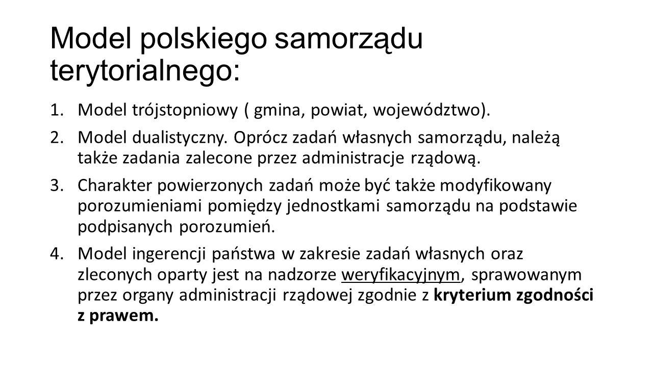 Model polskiego samorządu terytorialnego: