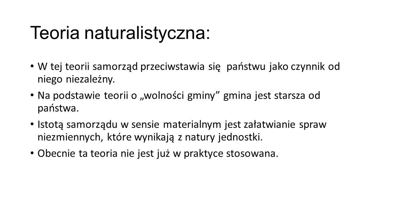 Teoria naturalistyczna: