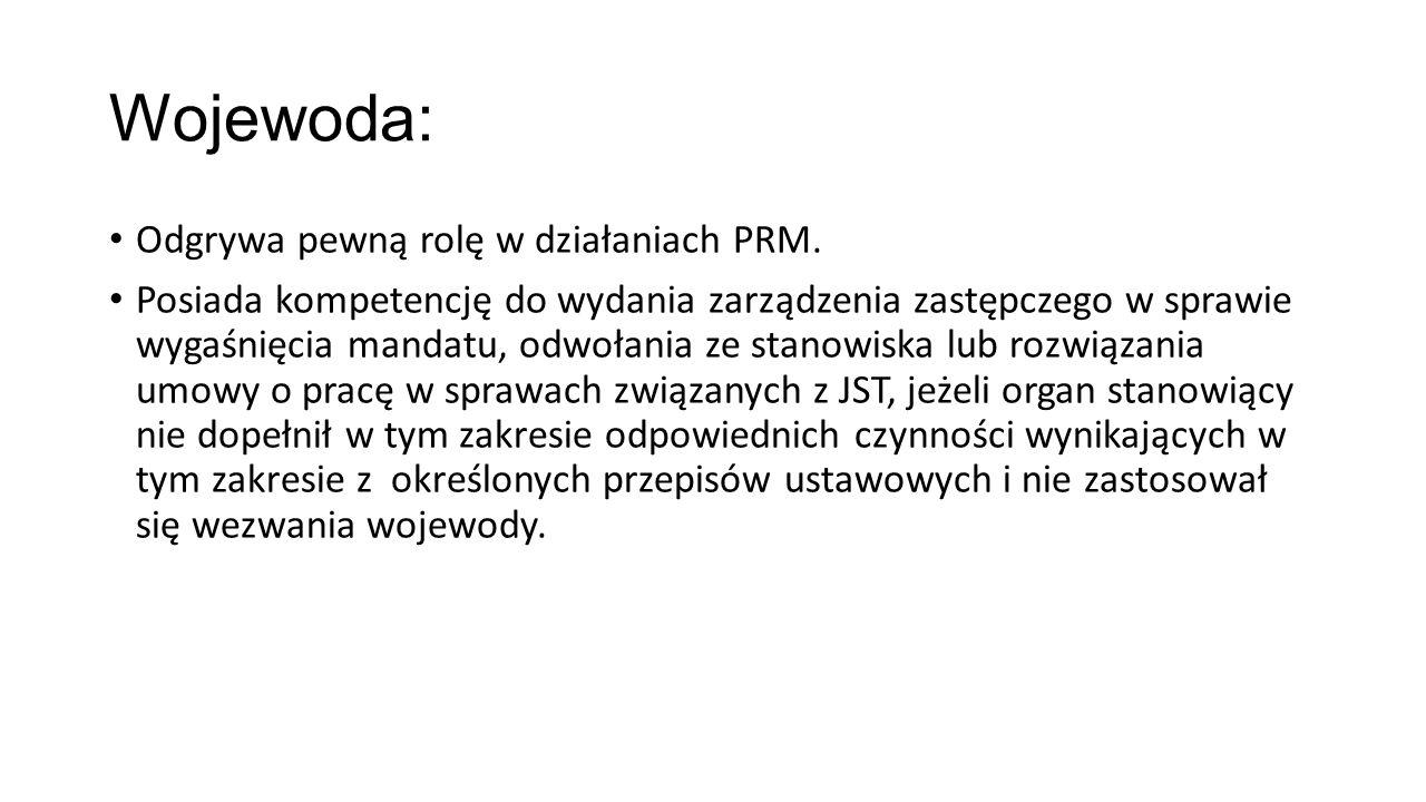 Wojewoda: Odgrywa pewną rolę w działaniach PRM.