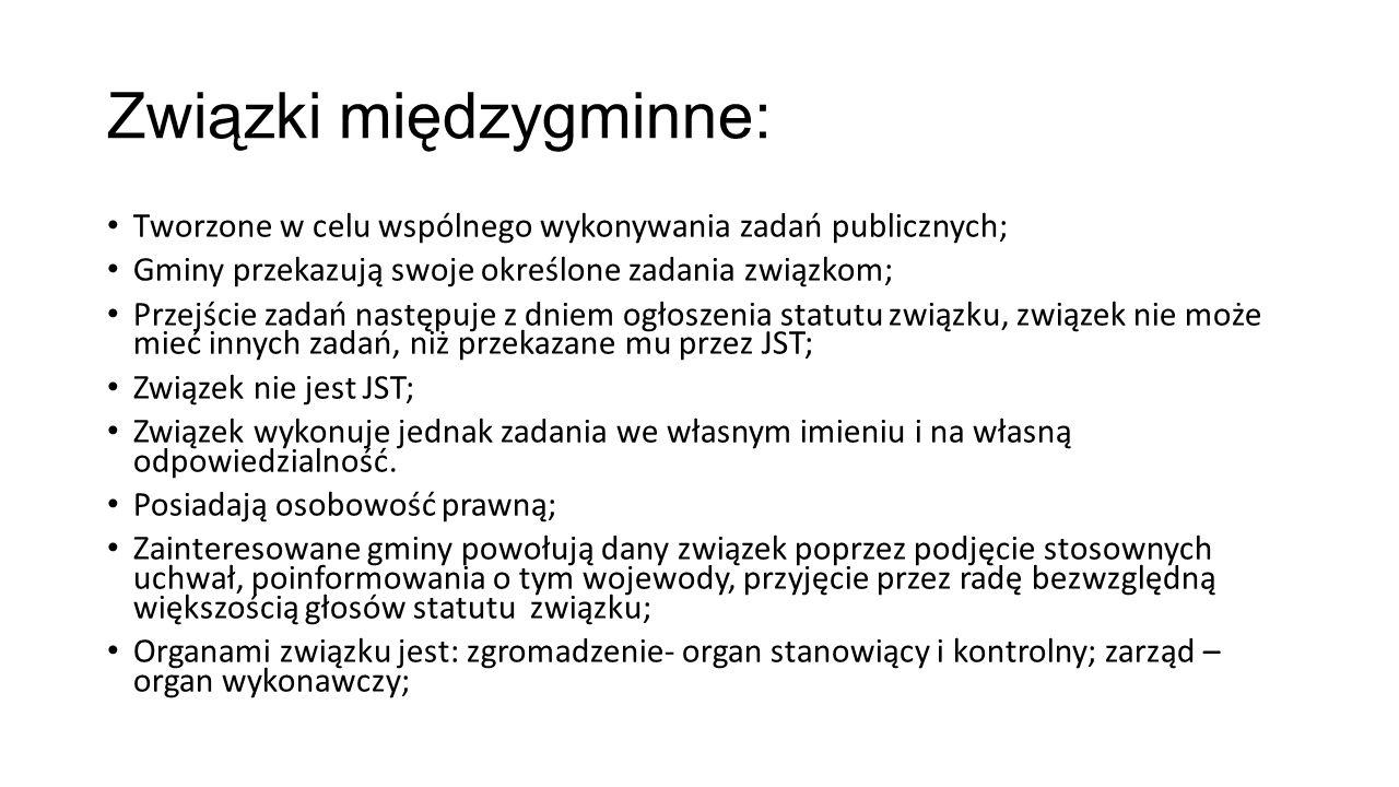Związki międzygminne: