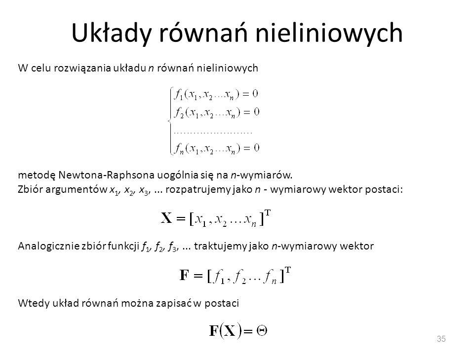 Układy równań nieliniowych