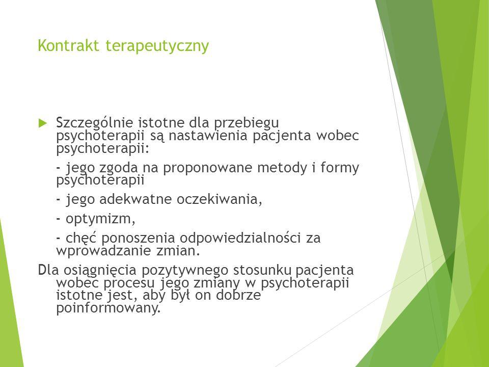 Kontrakt terapeutyczny