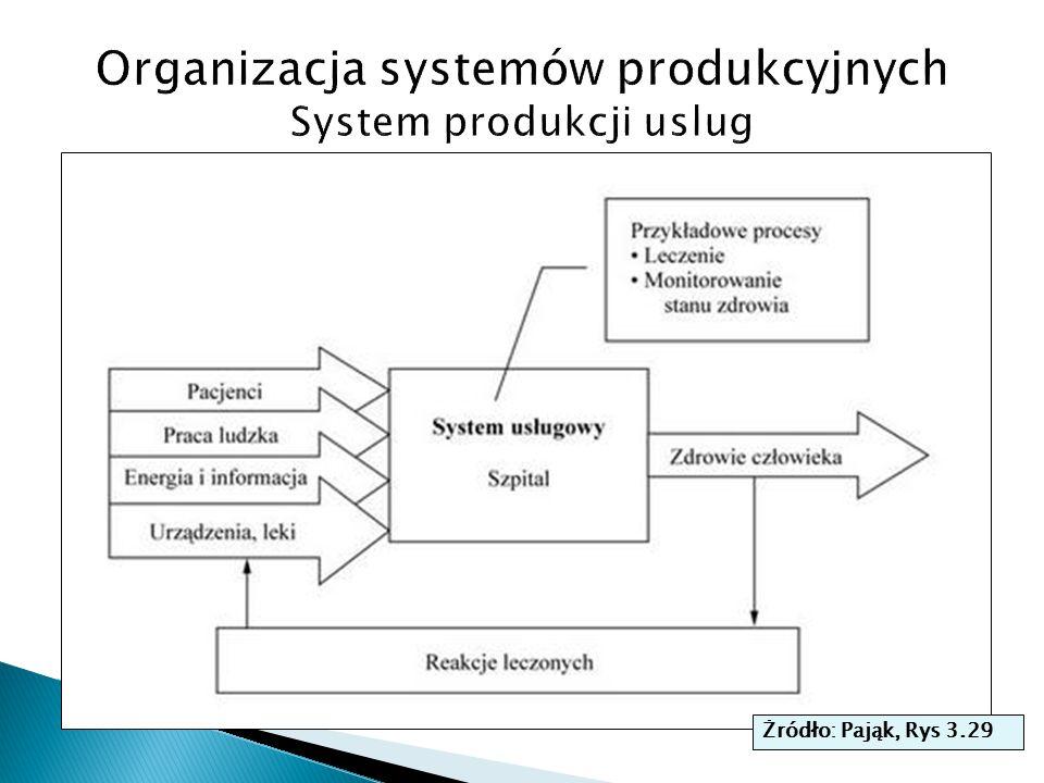 Organizacja systemów produkcyjnych System produkcji uslug